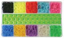 Kreatívna súprava gumičiek - 3000 ks