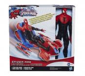 Figúrka - Spiderman a auto