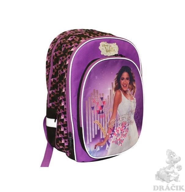 Školský batoh violetta dvojkomorový školský batoh s veľkou