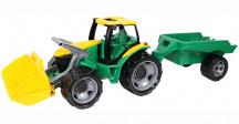 Traktor s lyžicou a prívesom