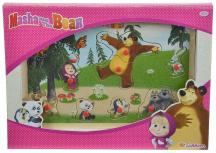 Drevené puzzle - Máša a medveď