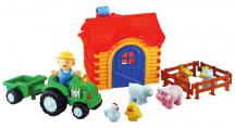 Hudobná farma s traktorom