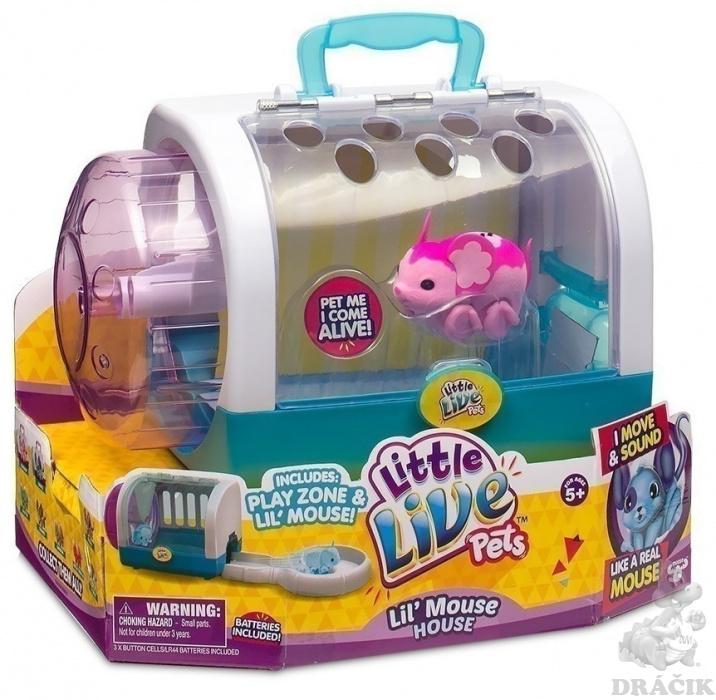 d6cabd0e3 Little Live Pets - Myška s domčekom | Dráčik