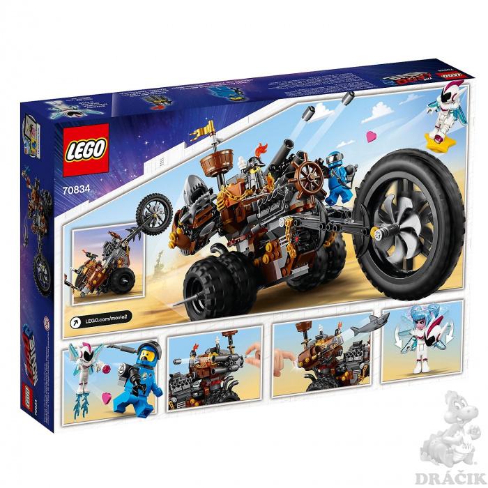 259271e71 70834 LEGO MOVIE 2 - Oceliaková motorová trojkolka Heavy Metal!   Dráčik